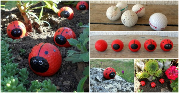 DIY Cute Golf Ball Ladybugs