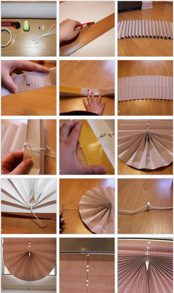 DIY Pull-Up Paper Window Blinds 1
