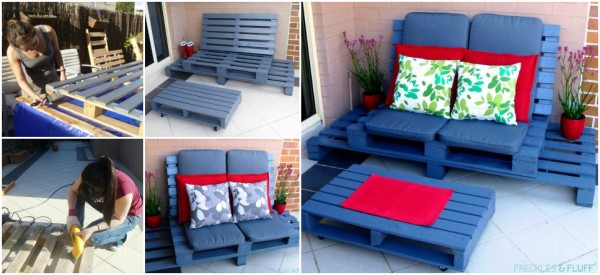DIY Wooden Pallet Lounge