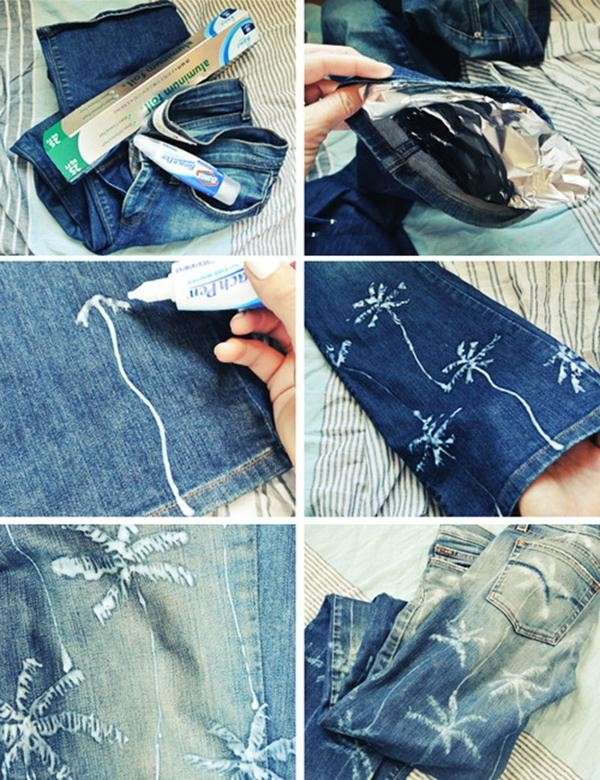 Decorate Your Jeans For Summer With Palm Tree Print