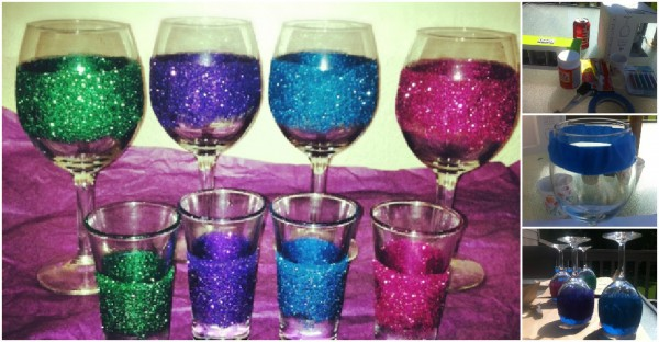 Glittering Wine Glass Tutorial
