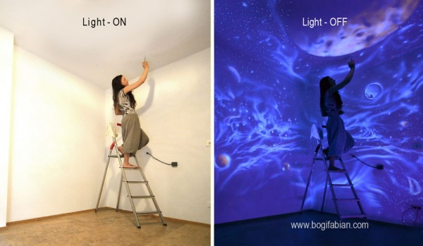 Glow In The Dark Room Painting