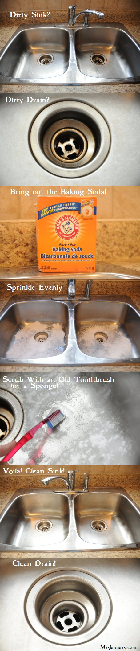 How to clean stainless steel kitchen sink or drain how - Best way to clean kitchen sink drain ...