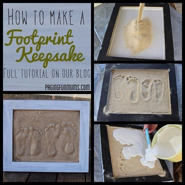 How To Make A Footprint Keepsake 1