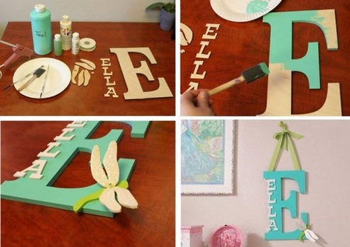 How To Make A Monogram For Kids' Room 1