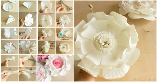 How To Make Flowers With Paper Plates