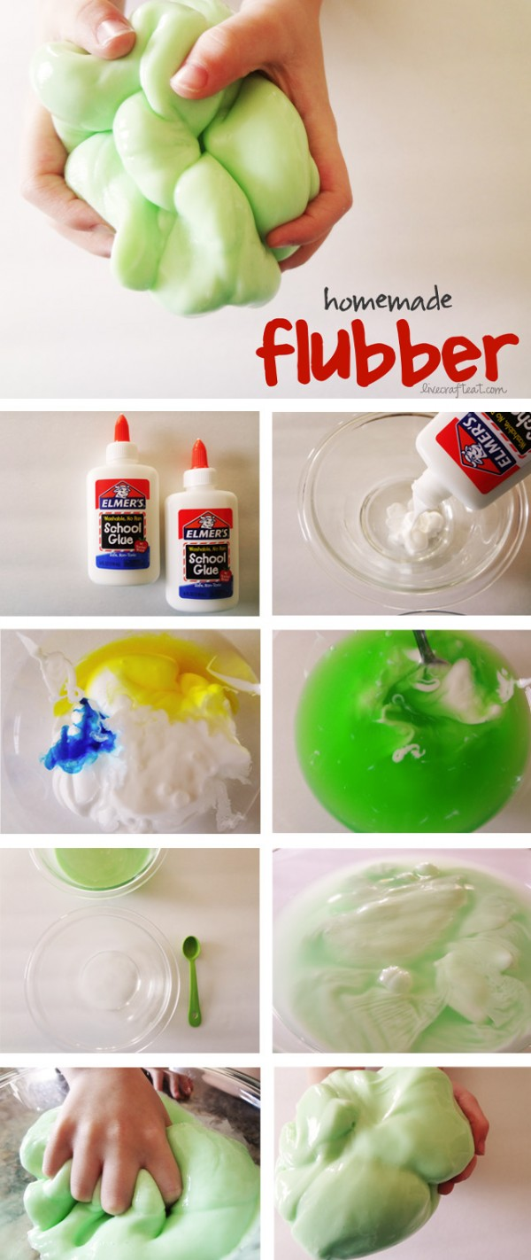 How To Make Homemade Flubber for Kids 1