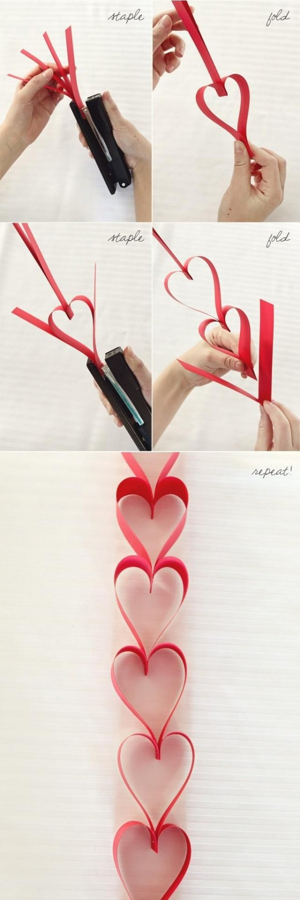How To Make Lovely Heart Garland