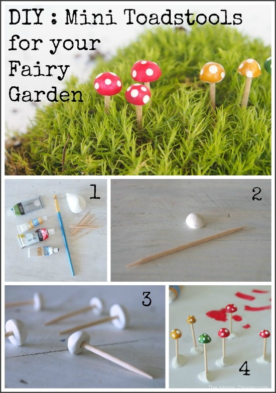 How To Make Mini Toadstools For A Fairy Garden 1