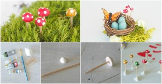 How To Make Mini Toadstools For A Fairy Garden