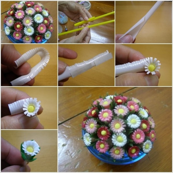 How To Turn Drinking Straws Into Amazing Daisies