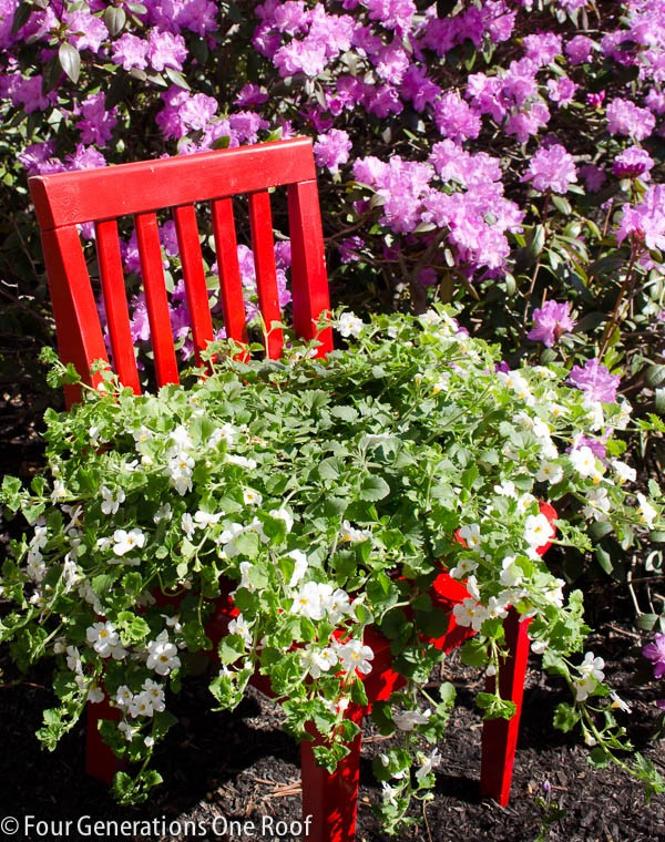 How To Turn Old Chairs Into Lovely Garden Planters 5