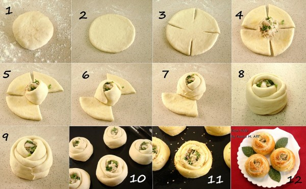 How to make delicious rose rolls 1
