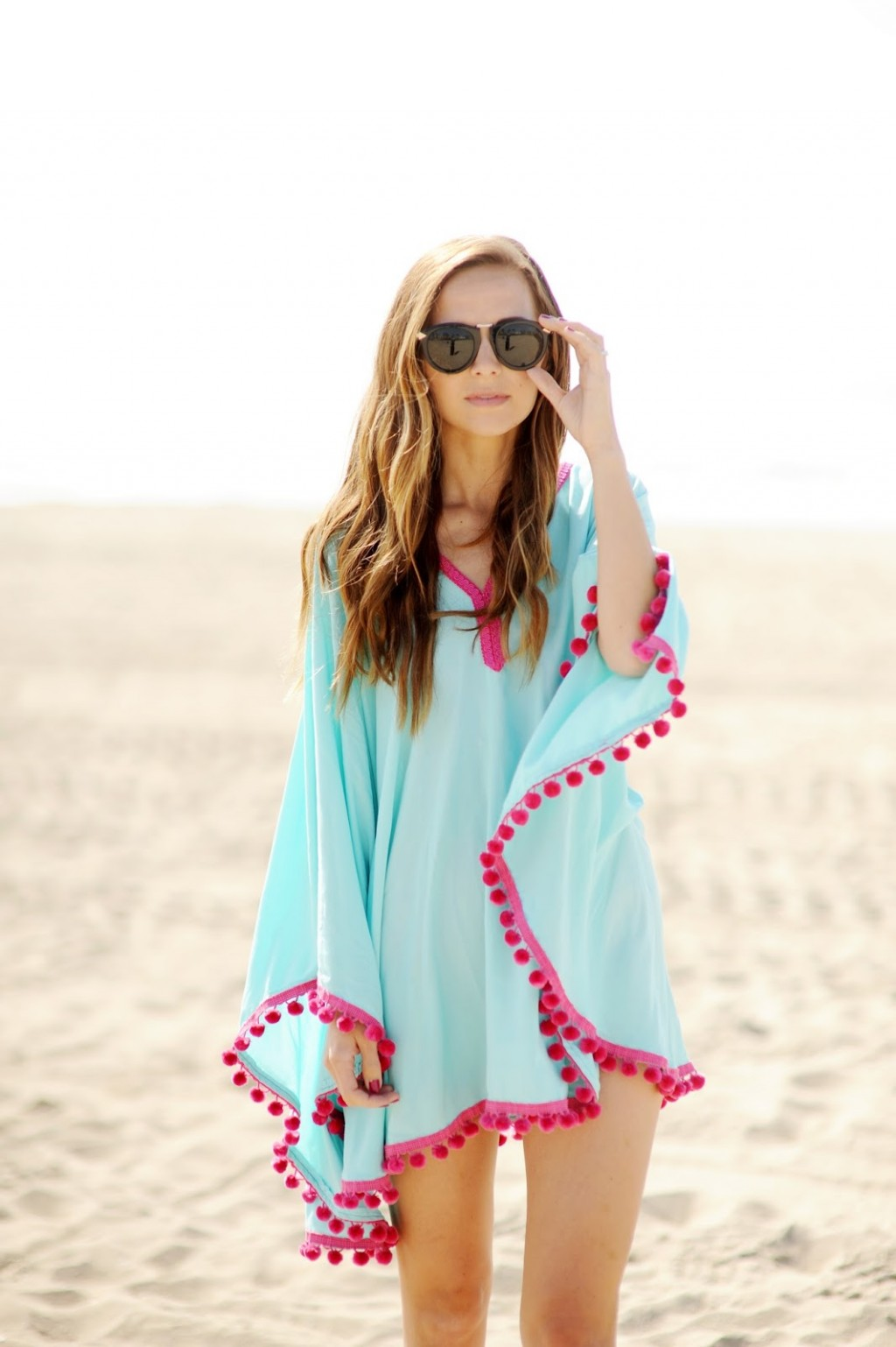 Pom Pom Trim Beach Coverup 1