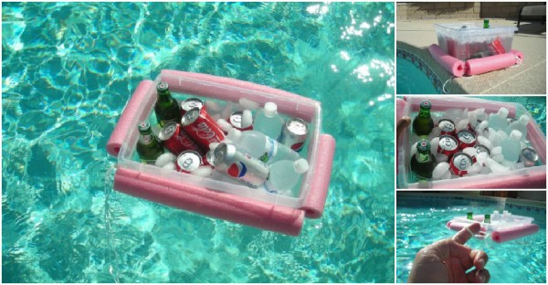 Pool Noodle Beverage Cooler 1