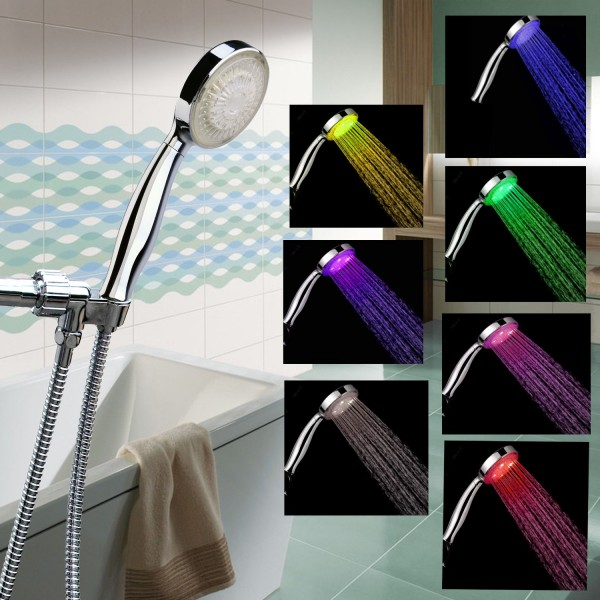 Rainbow Color Changing LED Shower Head 1