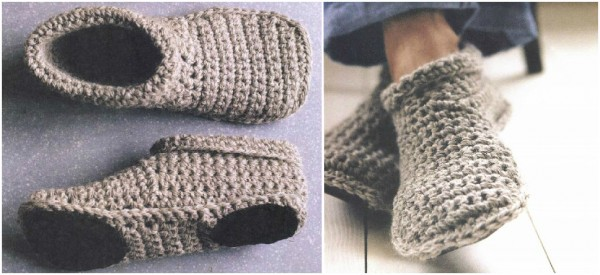 Free Printable Crochet Slipper Patterns : Slipper Boots Free Crochet Pattern How To Instructions