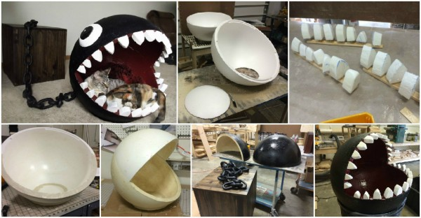 Super Mario Chain Chomp Monster Cat Bed Sold For $1,100 1