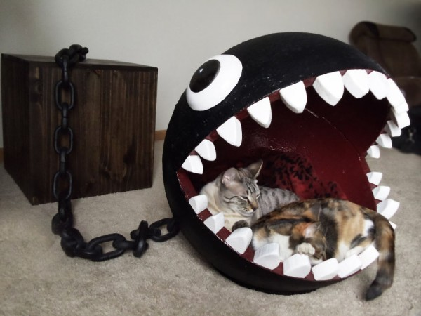 Super Mario Chain Chomp Monster Cat Bed Sold For $1,100 2