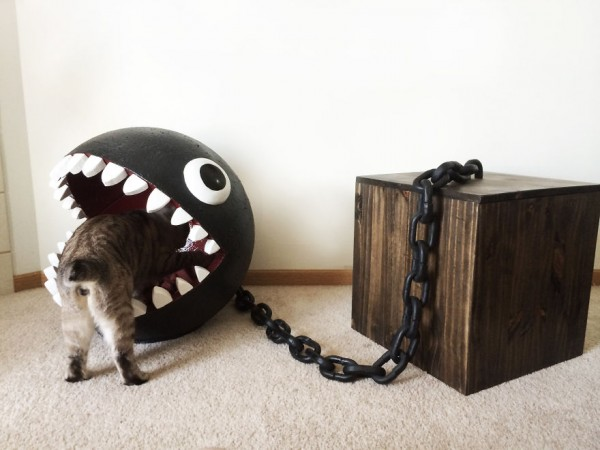 Super Mario Chain Chomp Monster Cat Bed Sold For $1,100