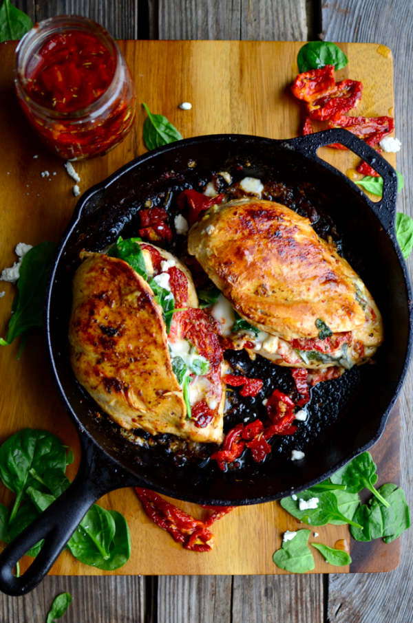 Tomato, Spinach, Cheese Stuffed Chicken 1