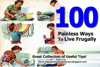 100 Painless Ways To Live Frugally