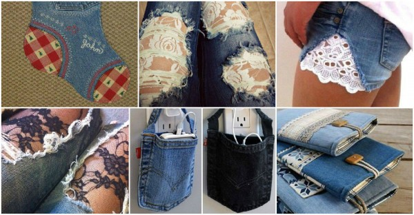 33 Creative Ways to Reuse Denim Jeans 1