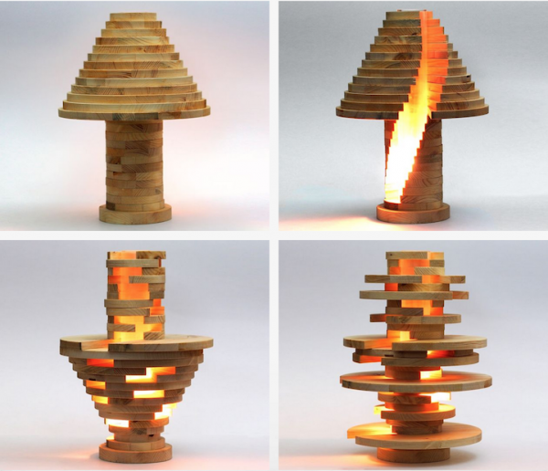 Cool DIY Stacked Lamp 12