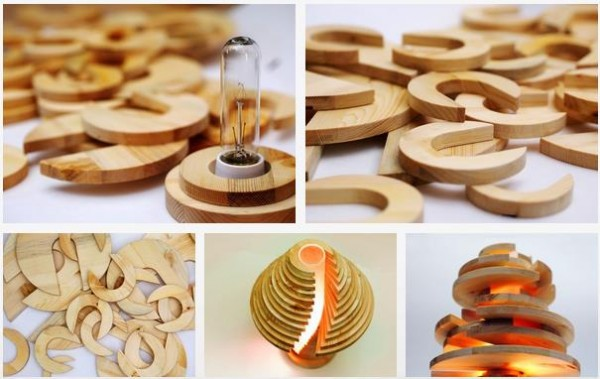Cool DIY Stacked Lamp 14