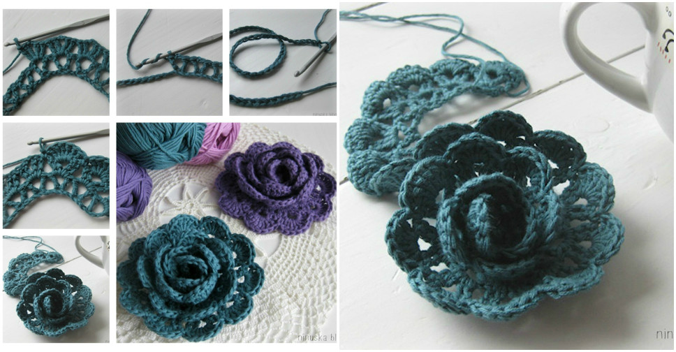 Crochet Flower Tutorial 1 ? How To Instructions