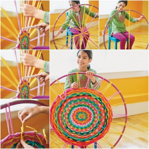 How To Make Rugs With A Hula Hoop And Recycled Shirts 1