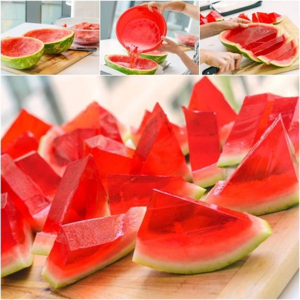 How To Make Watermelon JellO Shots 2