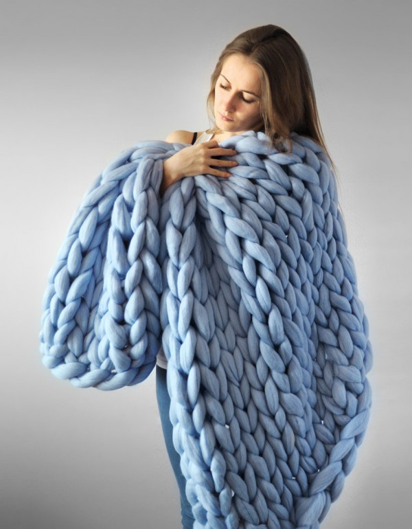 Super Chunky Knit Blanket 2