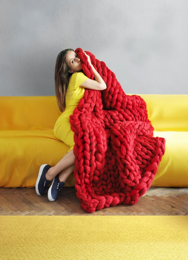 Super Chunky Knit Blanket 5
