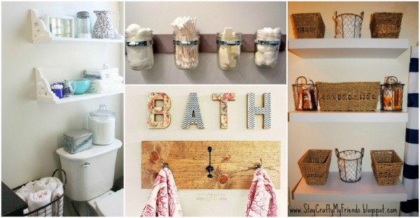 18 creative bathroom storage ideas how to instructions for Unusual storage ideas