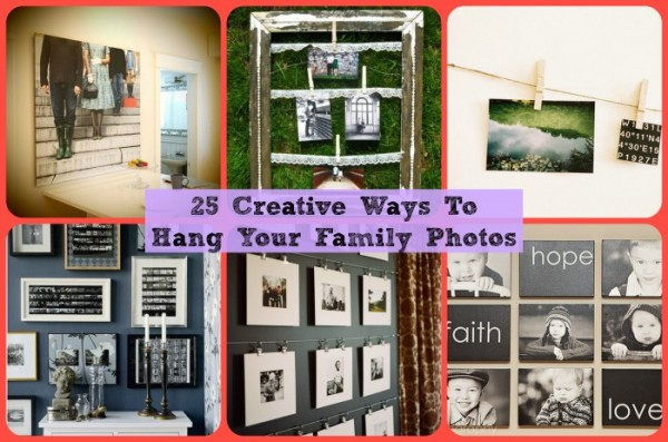 25 Creative Ways To Display Family Pictures