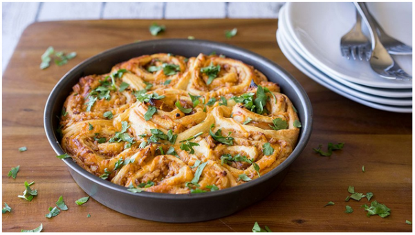 BBQ Chicken Pizza Pinwheels 1