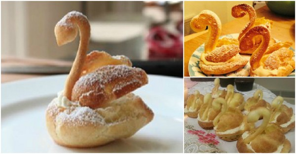 Chocolate Cream Puff Swans