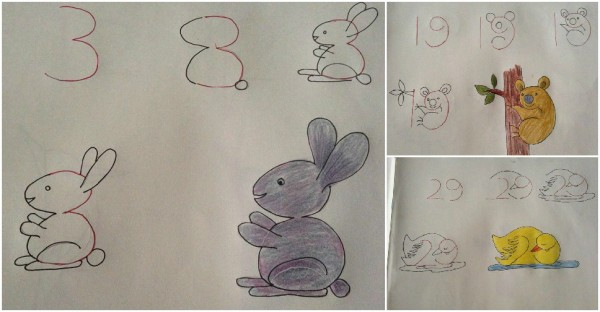 Cool Drawing Ideas That Start With Numbers