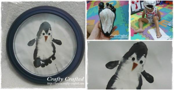 Cute Footprint Penguin