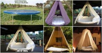 DIY Trampoline Hanging Bed 1