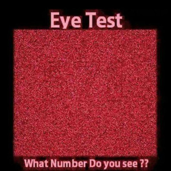 Eye Test - What Number Do You See