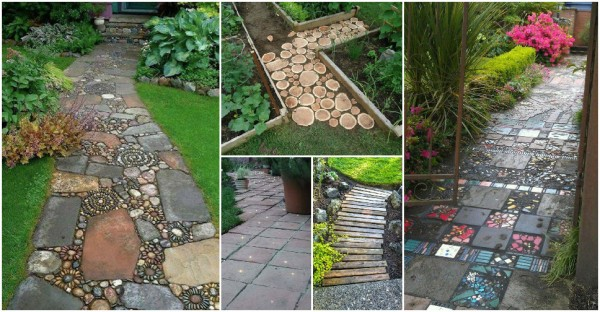 Backyard Pathway Ideas 32 natural and creative stone garden path ideas gardenoholic gardenoholic Home And Garden Pathway Ideas