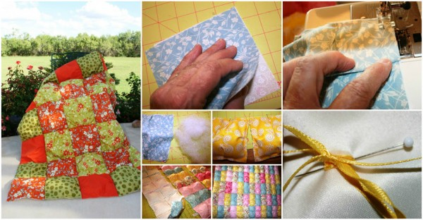 How To Make A Puff Quilt 1
