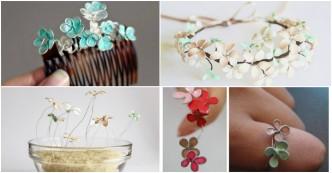 How To Make Beautiful Nail Polish Flower Jewelry 1