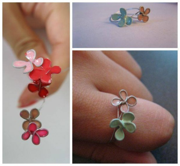 How To Make Beautiful Nail Polish Flower Jewelry 2