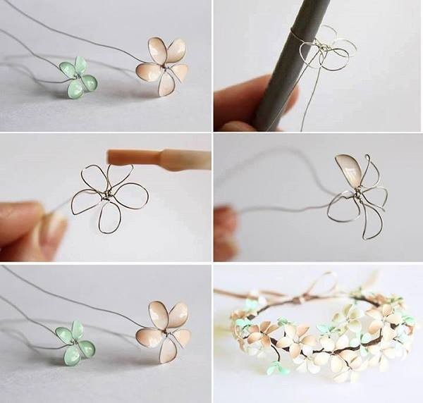 How To Make Beautiful Nail Polish Flower Jewelry