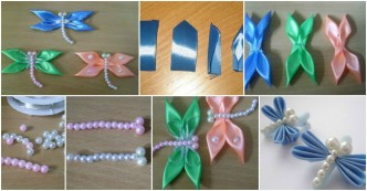 How To Make Satin Ribbon Dragonflies