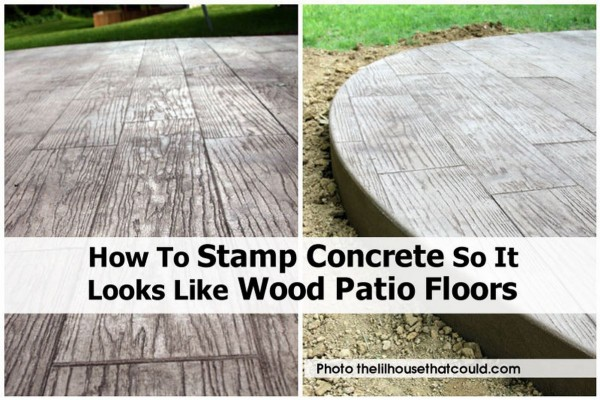 How to Make Stamped Concrete Patio