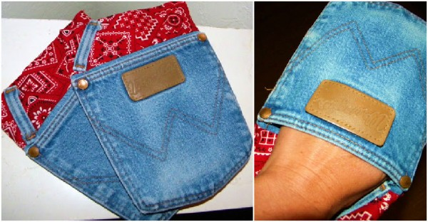 Jean Pockets Turned Into Pot Holders